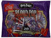 lollipops harry potter, blood pop, strawberry Frankford Candy & Chocolate Company Nutrition info