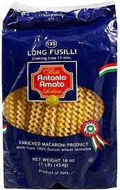 long fusilli-135 Antonio Amato Nutrition info