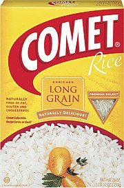 long grain enriched rice Comet Nutrition info