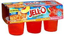 low calorie gelatin snack sugar free, peach & watermelon Jell-o Nutrition info