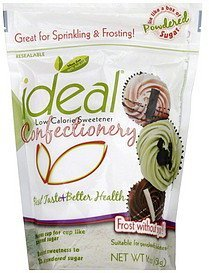 low calorie sweetener confectionary Ideal Nutrition info
