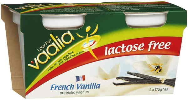 low fat lactose free yoghurt french vanilla Vaalia Nutrition info