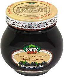 low sugar preserves black currant Towicz Nutrition info