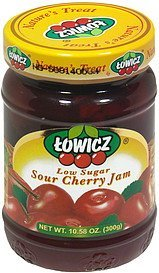 low sugar sour cherry jam Towicz Nutrition info