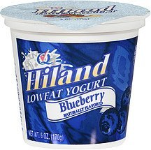 lowfat blueberry yogurt Hiland Nutrition info