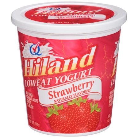 lowfat strawberry yogurt Hiland Nutrition info