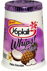 lowfat yogurt pina colada Yoplait Nutrition info