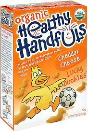 lucky duckies organic, cheddar cheese Healthy Handfuls Nutrition info