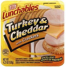 lunch combinations turkey & cheddar with crackers Lunchables Nutrition info