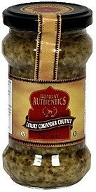 luxury coriander chutney Bombay Authentics Nutrition info