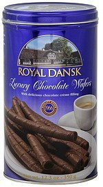 luxury wafers chocolate Royal Dansk Nutrition info