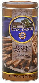 luxury wafers with delicious caffe latte creme filling Royal Dansk Nutrition info