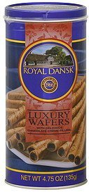 luxury wafers with delicious chocolate creme filling Royal Dansk Nutrition info