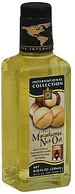 macadamia nut oil virgin International Collection Nutrition info