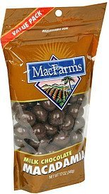 macadamias milk chocolate MacFarms Nutrition info