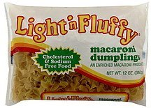 macaroni dumplings Light 'n Fluffy Nutrition info