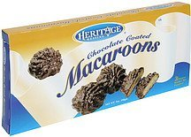 macaroons chocolate coated Heritage Messing Nutrition info