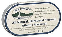 mackerel atlantic, hardwood smoked Bar Harbor Nutrition info