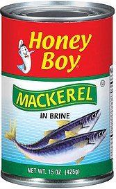 mackerel in brine Honey Boy Nutrition info