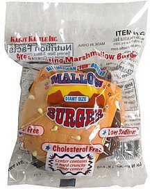 mallow burger giant size Kandy Kastle Inc. Nutrition info