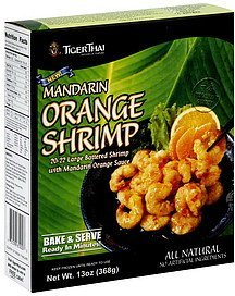mandarin orange shrimp Tiger Thai Nutrition info