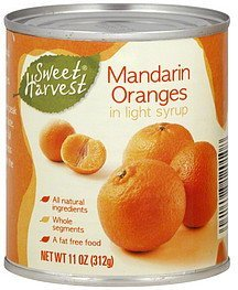 mandarin oranges Sweet Harvest Nutrition info