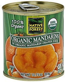 mandarins organic Native Forest Nutrition info