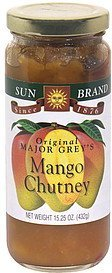 mango chutney original major grey's Sun Brand Nutrition info