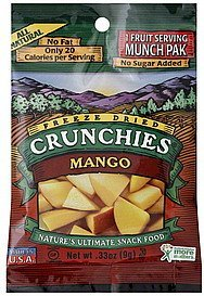 mango freeze dried Crunchies Nutrition info