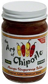 mango gingersnap salsa medium The Art of Chipotle Nutrition info