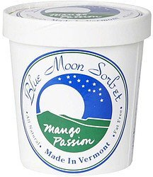 mango passion sorbet Blue Moon Sorbet Nutrition info