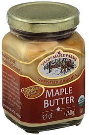 maple butter Shady Maple Farms Nutrition info