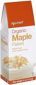 maple flakes organic Equinox Nutrition info
