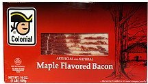 maple flavored bacon Colonial Nutrition info