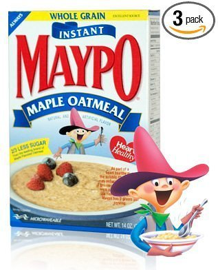 maple oatmeal instant Maypo Nutrition info