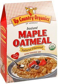 maple oatmeal instant Up Country Organics Nutrition info