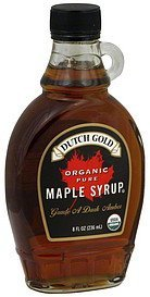 maple syrup organic, pure Dutch Gold Nutrition info