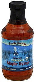 maple syrup organic vermont Family Heritage Nutrition info