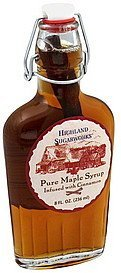 maple syrup pure, infused with cinnamon Highland Sugarworks Nutrition info