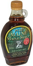 maple syrup pure maine, grade a dark amber Arnold Farm Sugarhouse Nutrition info