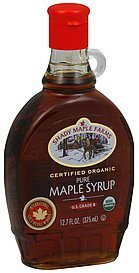 maple syrup pure Shady Maple Farms Nutrition info