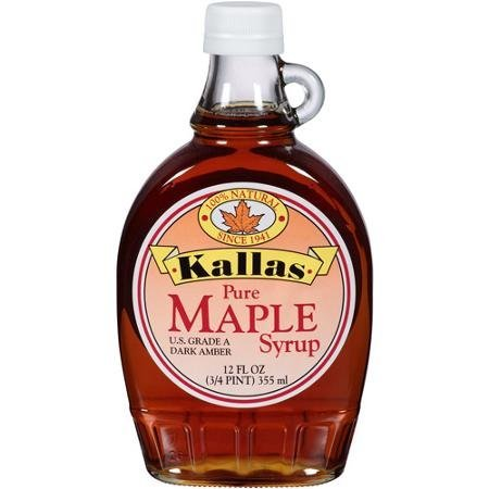 maple syrup pure Kallas Nutrition info