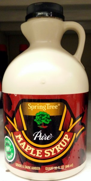 maple syrup Spring Tree Nutrition info