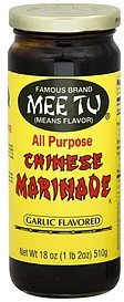 marinade all purpose chinese garlic flavored Mee Tu Nutrition info
