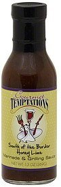 marinade & grilling sauce south of the border honey lime Gourmet Temptations Nutrition info