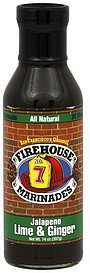 marinade jalapeno lime & ginger Firehouse Nutrition info