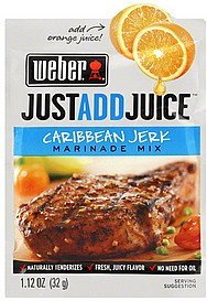 marinade mix caribbean jerk Weber Nutrition info