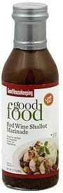 marinade red wine shallot Good Housekeeping Nutrition info