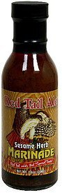 marinade sesame herb Red Tail Ale Nutrition info