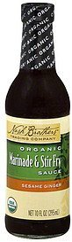 marinade & stir fry sauce organic, sesame ginger Nash Brothers Trading Company Nutrition info